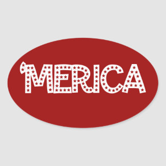 'Merica Oval Sticker