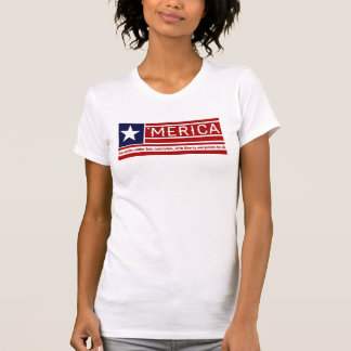 'Merica - Pledge of Allegiance USA Flag Design Tees