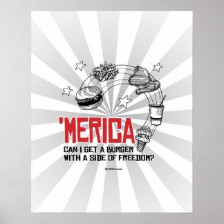 Merica - puede yo conseguir una hamburguesa con un póster