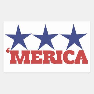 Merica Rectangular Sticker