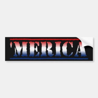 'MERICA Red White & Blue Bumper Sticker Car Bumper Sticker