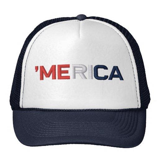 'MERICA Red White & Blue Hat