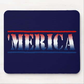 'MERICA Red White & Blue Mouse Pad