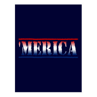 'MERICA Red White & Blue Postcard