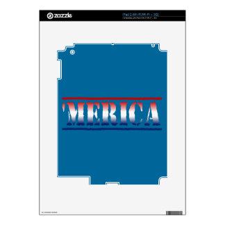'MERICA Red White & Blue Skin For iPad 2