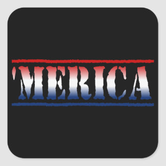 MERICA Red White Blue Stickers 6 sheet
