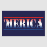 'MERICA Red White & Blue Stickers (6/sheet)