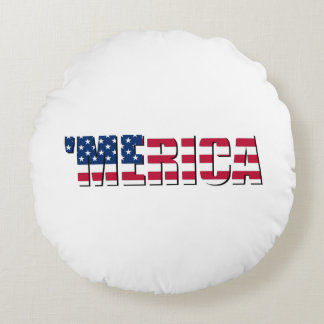 Merica Round Pillow