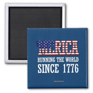 Merica - Runnin el mundo desde 1776 Imán Cuadrado