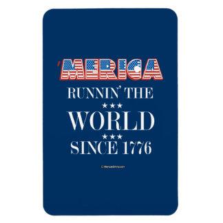 Merica - Runnin el mundo desde 1776 Imanes Flexibles