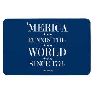 """""""Merica - Runnin"""" el mundo desde 1776 Imanes Rectangulares"""