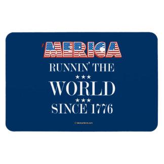 Merica - Runnin el mundo desde 1776 Imán
