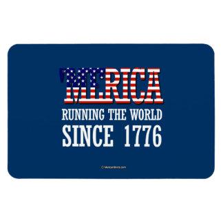 """""""Merica - Runnin"""" el mundo desde 1776 Imanes Flexibles"""