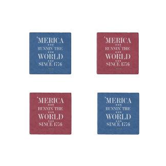 """""""Merica - Runnin"""" el mundo desde 1776 Imán De Piedra"""