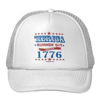 'Merica - Running S--t Since 1776 Trucker Hat