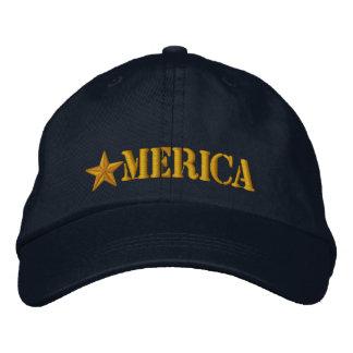 Merica Star Embroidered Baseball Cap