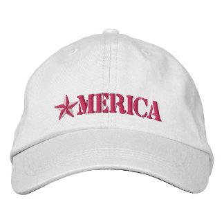 Merica Star Embroidered Baseball Hat