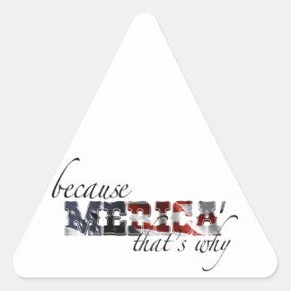 Merica Triangle Stickers