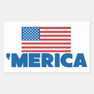 Merica Rectangle Sticker