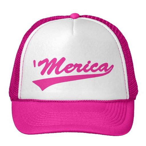 'Merica Swoosh Trucker Hat (Pink)