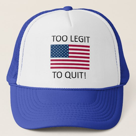 e1df3bab33b  Merica Too Legit to Quit Trucker Hat