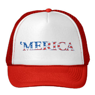 Merica Trucker Hat with US Flag in the Lettering