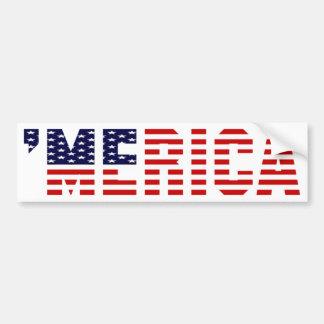 MERICA U S Flag Bumper Sticker