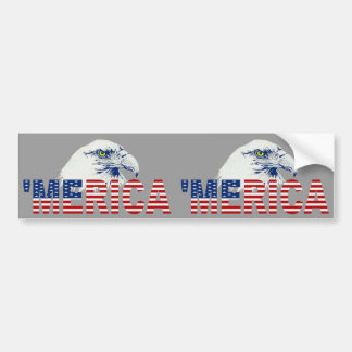 'MERICA U.S. Flag & Eagle 2-in-1 Bumper Sticker