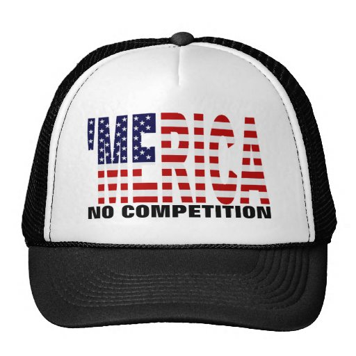 """'MERICA U.S. Flag """"No Competition"""" Hat"""