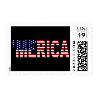 'MERICA U.S. Flag Postage Stamps.