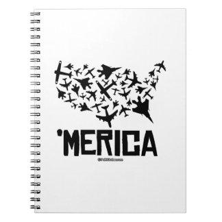 Merica - United States of Combat Spiral Note Book