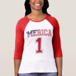 'MERICA US Flag #1 Jersey T-Shirt