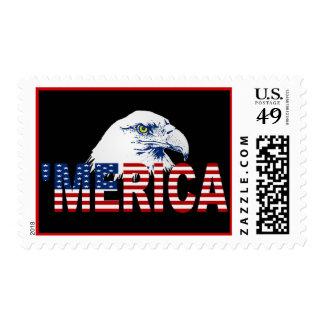 'MERICA US Flag & American Bald Eagle Stamps