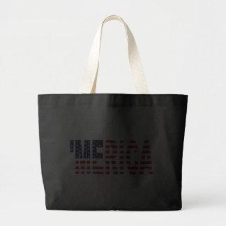 MERICA US Flag Tote Bag