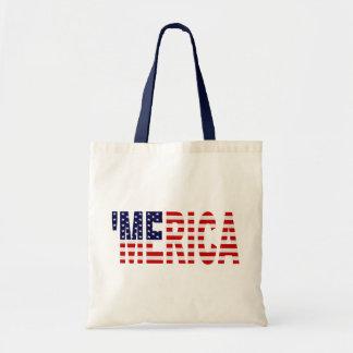 MERICA US Flag Canvas Bags