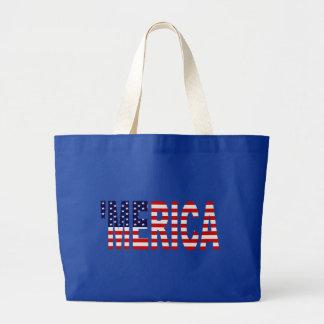 MERICA US Flag Canvas Bag
