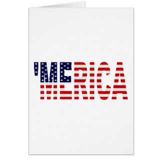 'MERICA US Flag Greeting Card