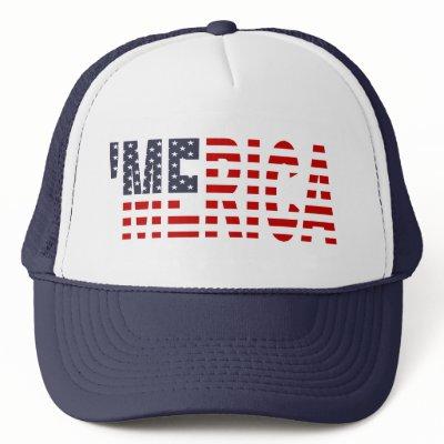 'MERICA US Flag Hat (blue)