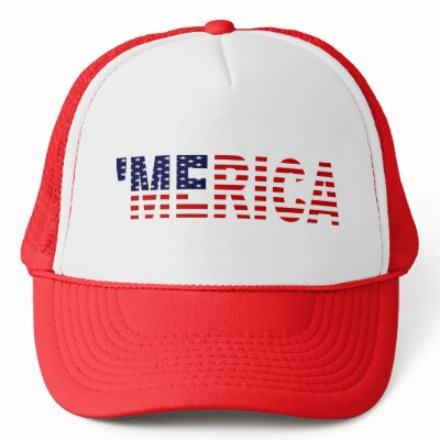 'MERICA US Flag Hat (red)