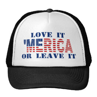 MERICA US Flag - Love It Or Leave It Hat