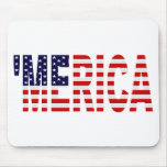 'MERICA US Flag Mousepad Mouse Pads