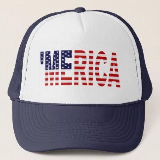 'MERICA US Flag (navy blue) Trucker Hat
