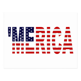 'MERICA US Flag Postcard