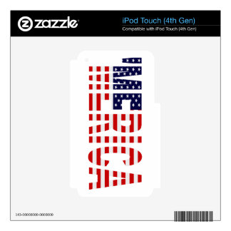 'MERICA US Flag iPod Touch 4G Skins