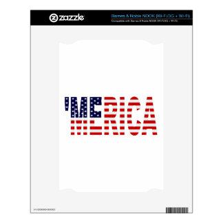 'MERICA US Flag NOOK Decals