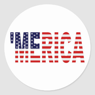 MERICA US Flag Round Stickers