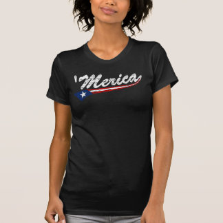 'Merica US Flag Style (Distressed) T-shirt