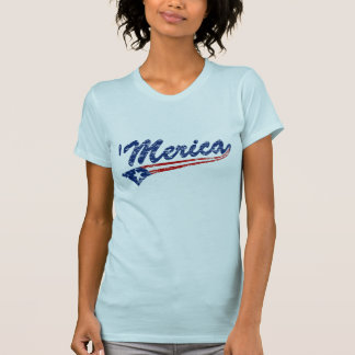 'Merica US Flag Style Swoosh (Distressed) T-shirt
