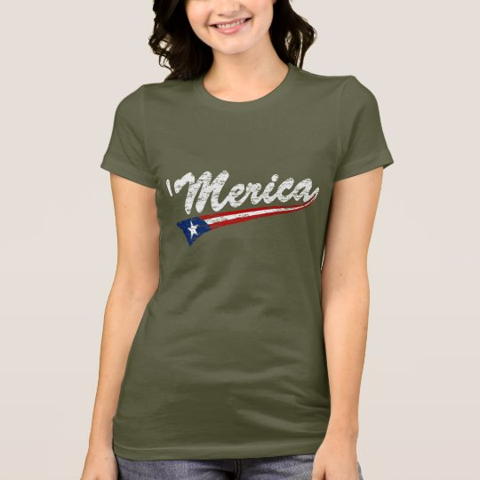 'Merica US Flag Style Swoosh (Distressed) T-shirt