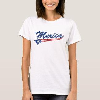 'Merica US Flag Swoosh (Distressed) T-shirt